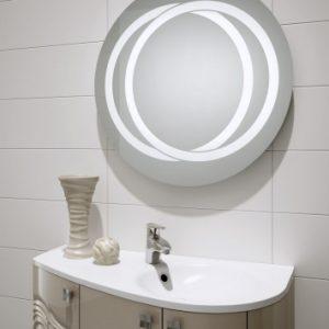 Duże okrągłe lustro - Tytan