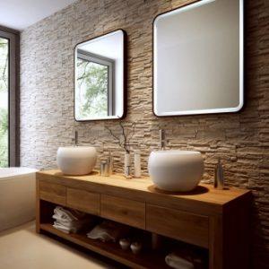 Lustro w ramie do łazienki - Prego