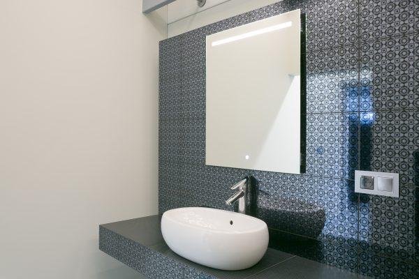 Kwadratowe lustro łazienkowe - SIMPLE LINE HORIZONTAL