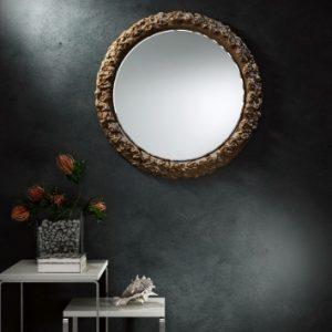 Srebrne lustro do łazienki - Pompea Round