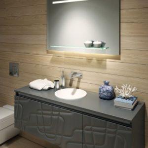 Lustro łazienkowe z półką - Dora