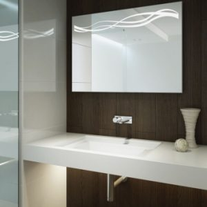 Lustro prostokątne do łazienki - Falanga Silver